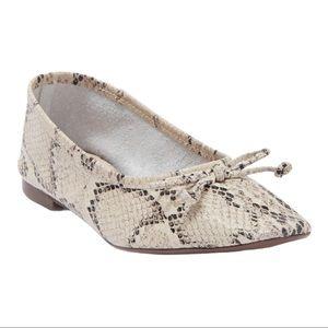 SCHUTZ Arissa snakeskin leather ballet flats 7.5